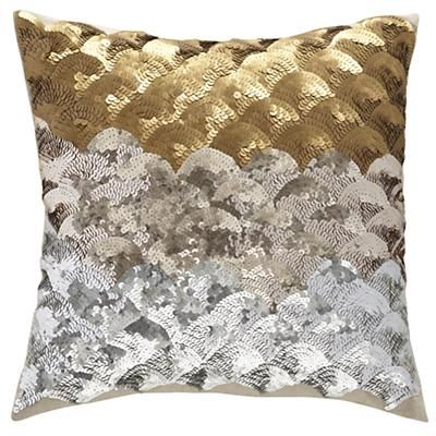Kids Throw Pillows Sequins Metallic Throw Pillow In Naturally