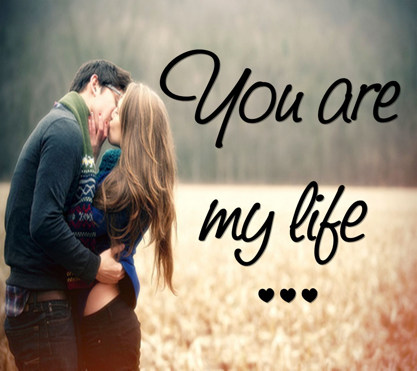 Love images couple with quotes kiss
