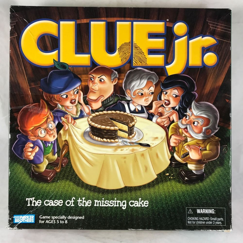 Clue Jr Board Game '03 Hasbro Family Detective Mystery
