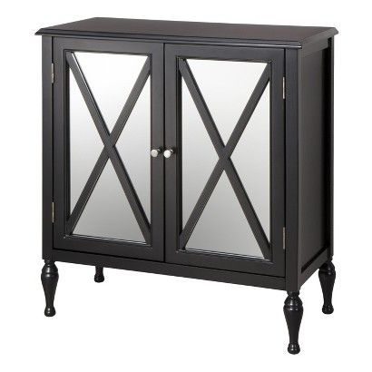 Hollywood Mirrored Accent Cabinet For Bedroom   Use As Nightstand