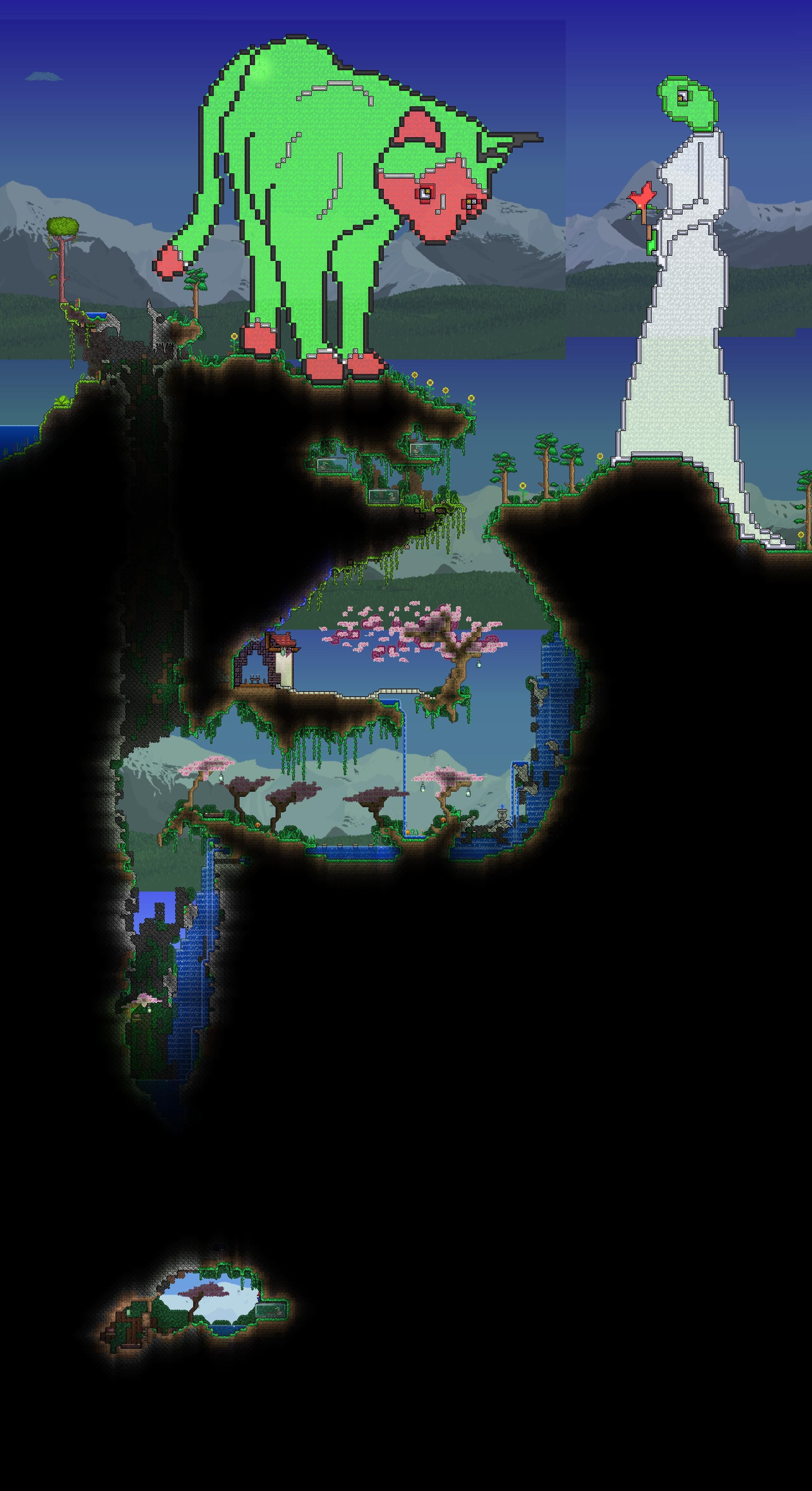 Pixel Art Terrarium Cherry Tree