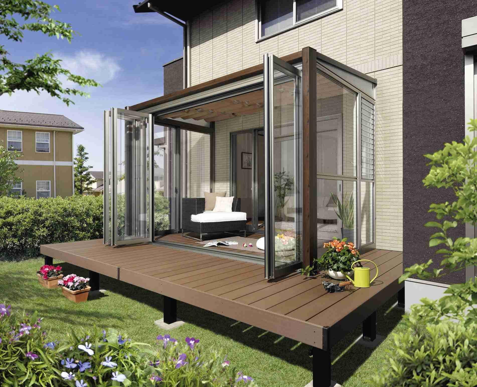 新築 室内物干し場を作った方 パティオデザイン 裏庭のパティオのデザイン 屋外リビングスペース