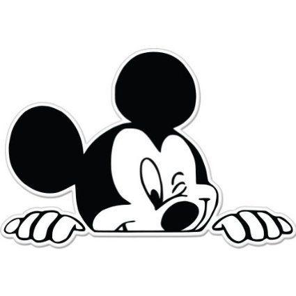 Amazon Com Mickey Mouse Wink Peeking Car Sticker Decal 5