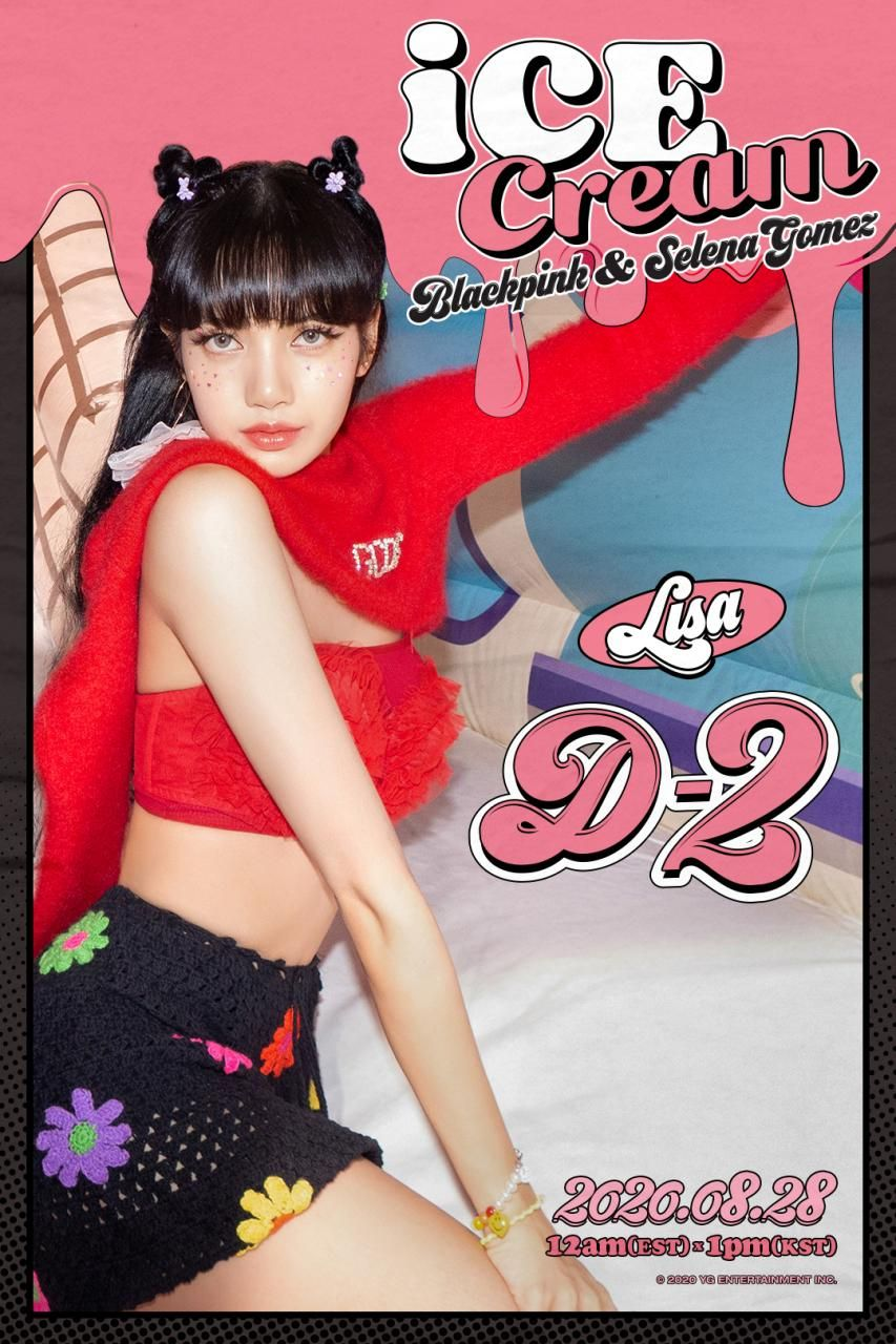 Blackpink X Selena Gomez Ice Cream D 2 Poster In 2020 Blackpink Black Pink Kpop Ice Cream Poster