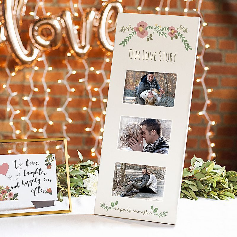 Cathy S Concepts Floral Our Love Story 3 Opening 5 5 X 3 5 Collage Frame Wedding Picture Frames Love Picture Frames White Picture Frames