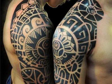 Full Sleeve Tattoo 3 By Shepush On Deviantart Tribal Arm Tattoos Tattoo Design Drawings Tribal Sleeve Tattoos