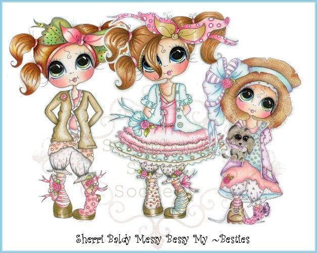 Welcome To My Besties Cute Art Besties Whimsy Stamps