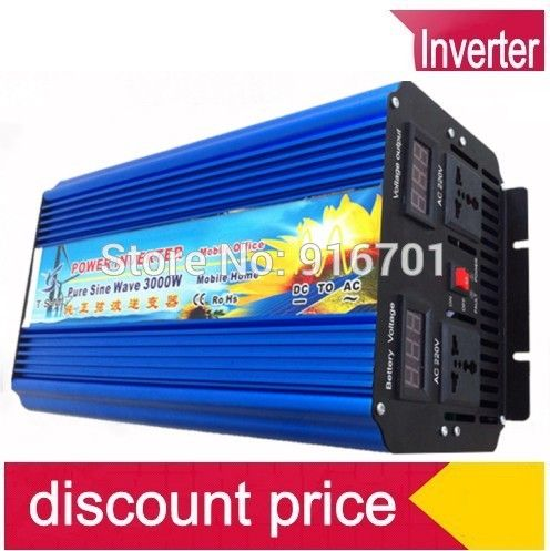 Pura Onda Senoidal Inversor 12v 220v 3000w 12v To 220v Power Voltage Converter 3000w Pure Sine Wave Inverter Solar Inverter Solar Power System Sine Wave
