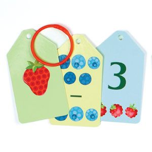 Counting Fruits & Veggies Ring Flash Cards #pinhonest