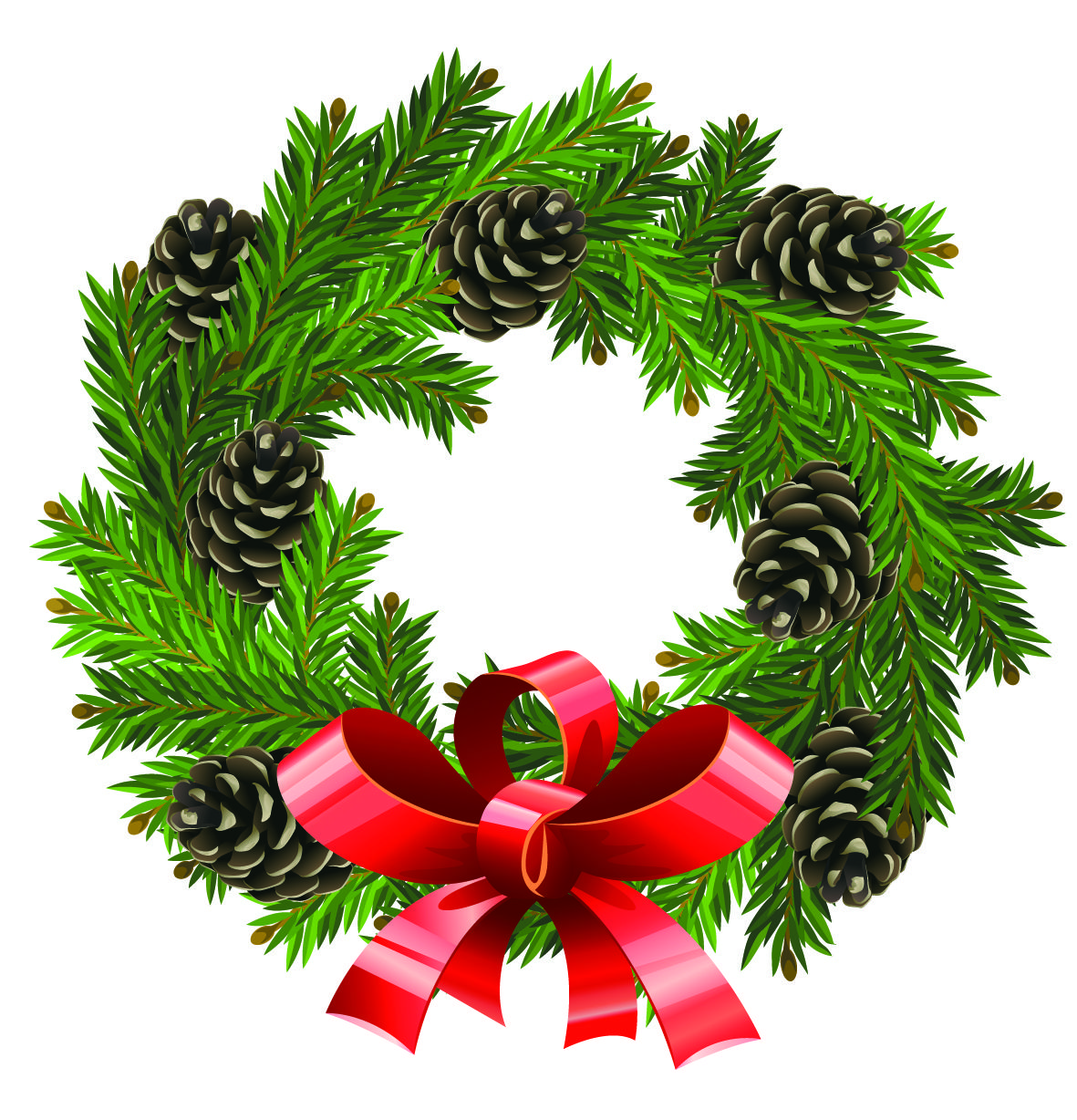 xmas wreath clipart clipartfest christmas pinterest wreaths rh pinterest com christmas wreaths clipart design christmas wreaths clipart design