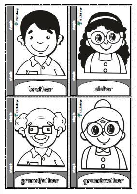 Family Members Mini Book For Colouring Ingles Para Preescolar Cosas De Ingles Preescolar