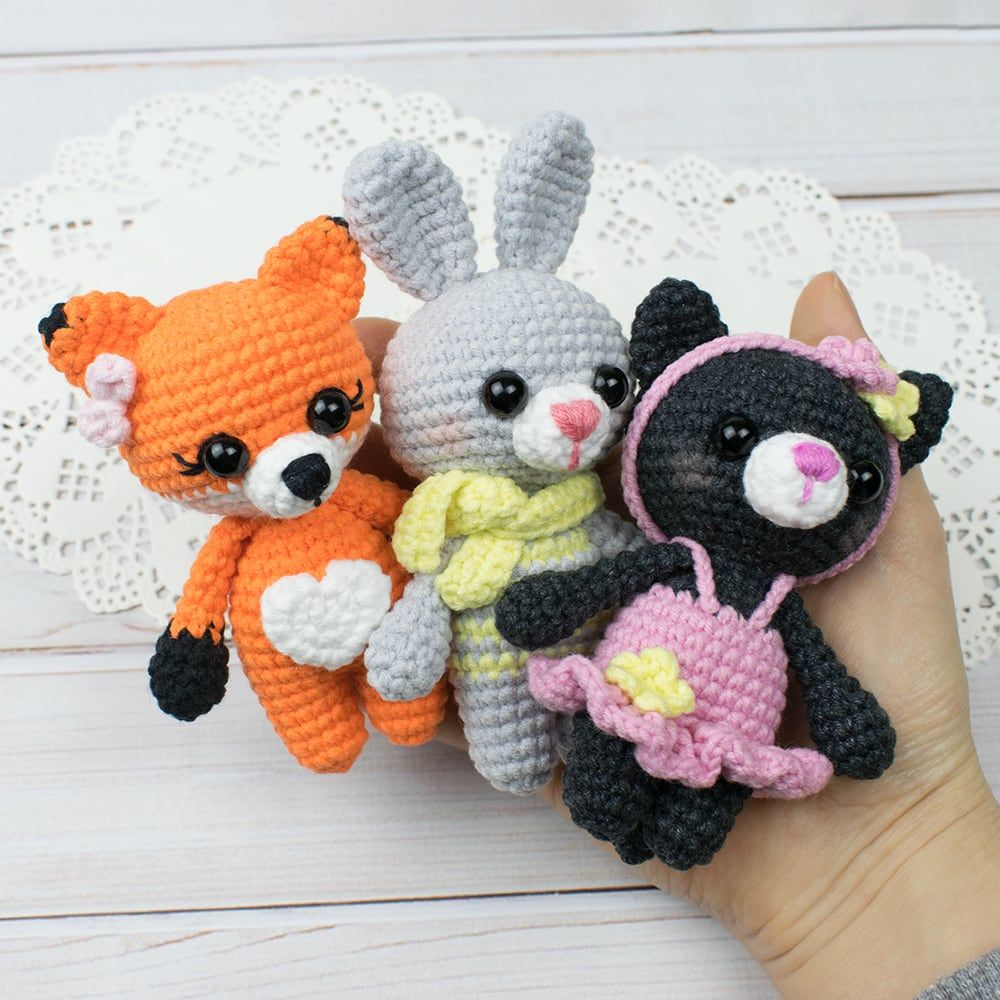 Tiny Kitty Cat Amigurumi Pattern Crochet Cat Pattern Crochet