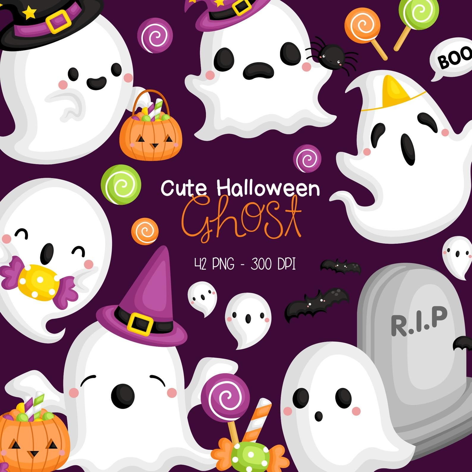 29+ Cute halloween ghost clipart ideas