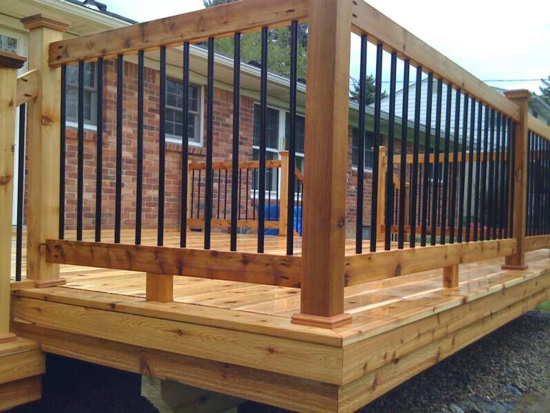 Aluminum Deck Balusters The Perfect Man Cave Deck Balusters Metal Deck Railing Deck Railing Design