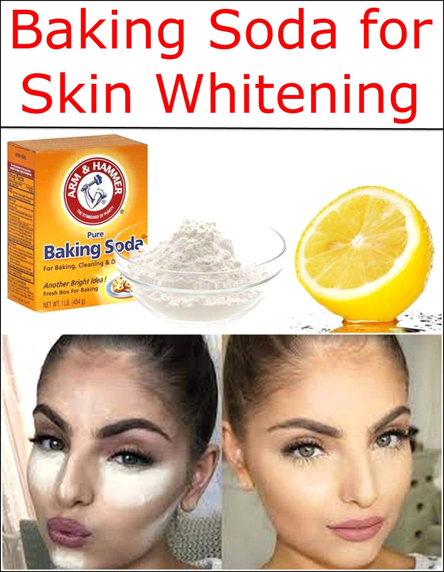 Baking soda and lemon for skin whitening
