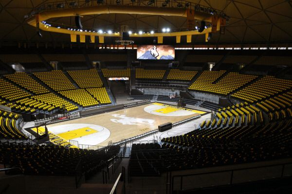 The Arena Auditorium Was Recently Named One Of The Top 8 College Basketball Courts In The United College Basketball College Basketball Courts Basketball Court