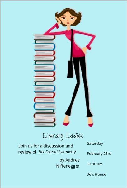 Stack Of Books Book Club Invitation Book Club Invitations Book Club Books Books Book Club