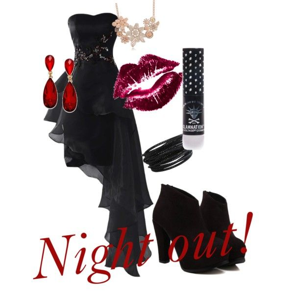 Night out! by turtle1996 on Polyvore featuring polyvore fashion style Style & Co. Pieces Manic Panic