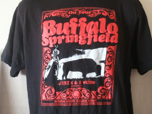 Rare BUFFALO SPRINGFIELD Concert T-Shirt 2011 The Wiltern, Los Angeles Neil Young - Size XL