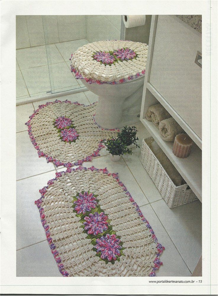accessoires de salle de bain au crochet crochet de. Black Bedroom Furniture Sets. Home Design Ideas