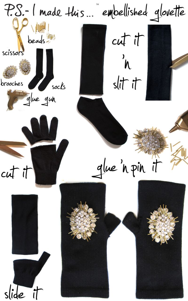 Fingerless gloves diy - Alexander Mcqueen S Fingerless Gloves Inspired These Delicious Diy Glovettes Created With Our Friends At Who