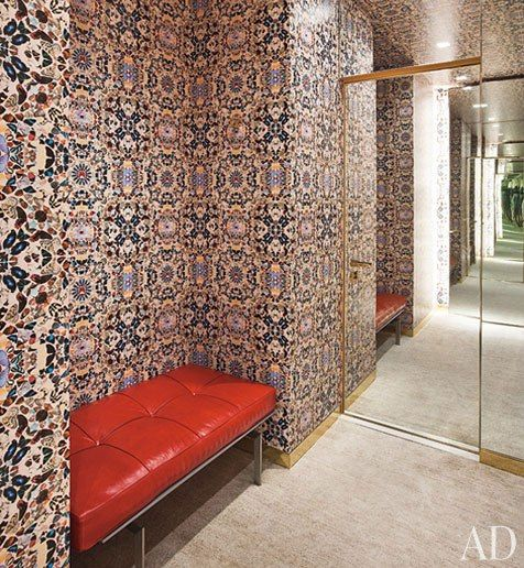 Damien Hirst's Butterfly wallpaper installed in the Louis Vuitton showroom in Shanghai