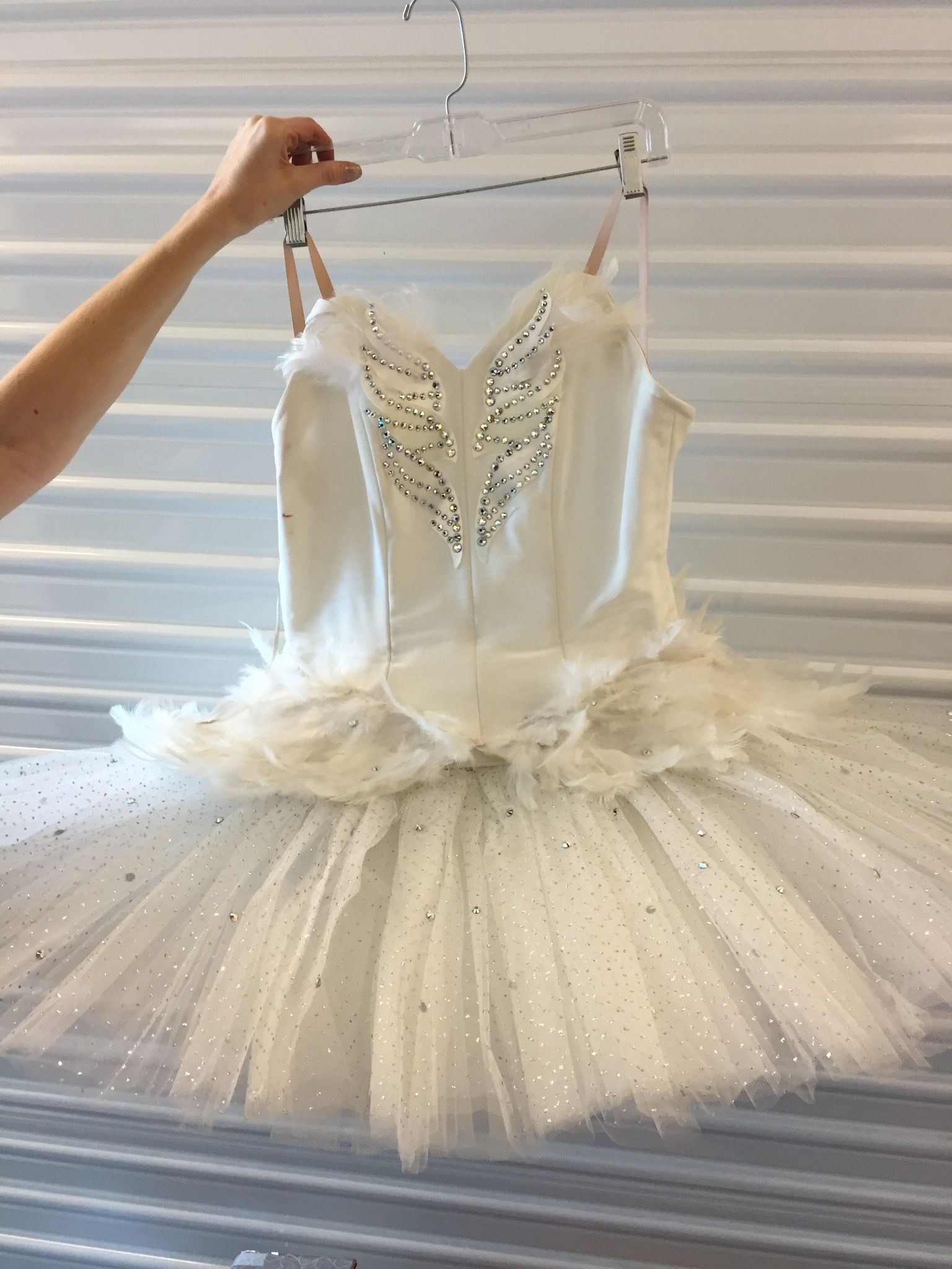44510b765 7 white feather swan lake tutus with attached rhinestone bodice (plus one  tiny kids one) - various sizes, mostly for small adults #LAUnboundWhite #  ...