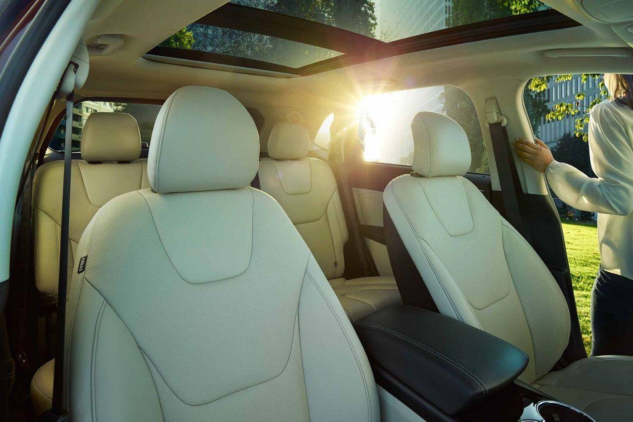 2018 Edge Titanium Interior With Perforated Leather Trimmed Seats