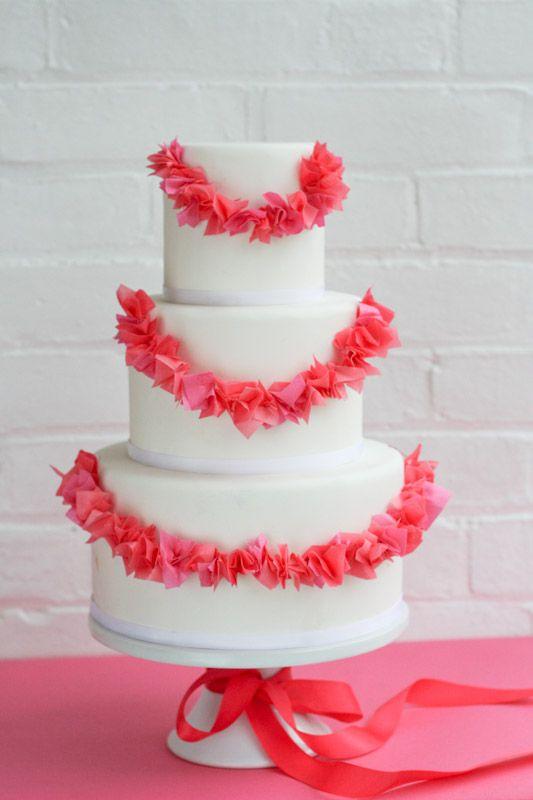 erica obrien cake design blog edible wafer paper garland