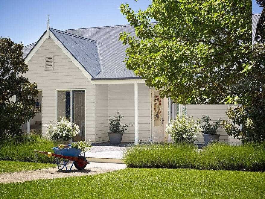 Neutral Coloured Californian Home Exterior   Inspirations Paint: Mobile