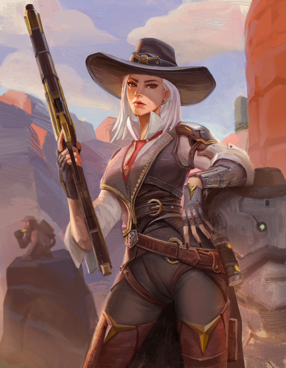 Ashe by gantzu on DeviantArt Overwatch wallpapers