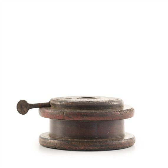 Vintage Pulley Candlestick (491569612), Soy Candles, Recycled Glass Candle Holders, & More | bambeco