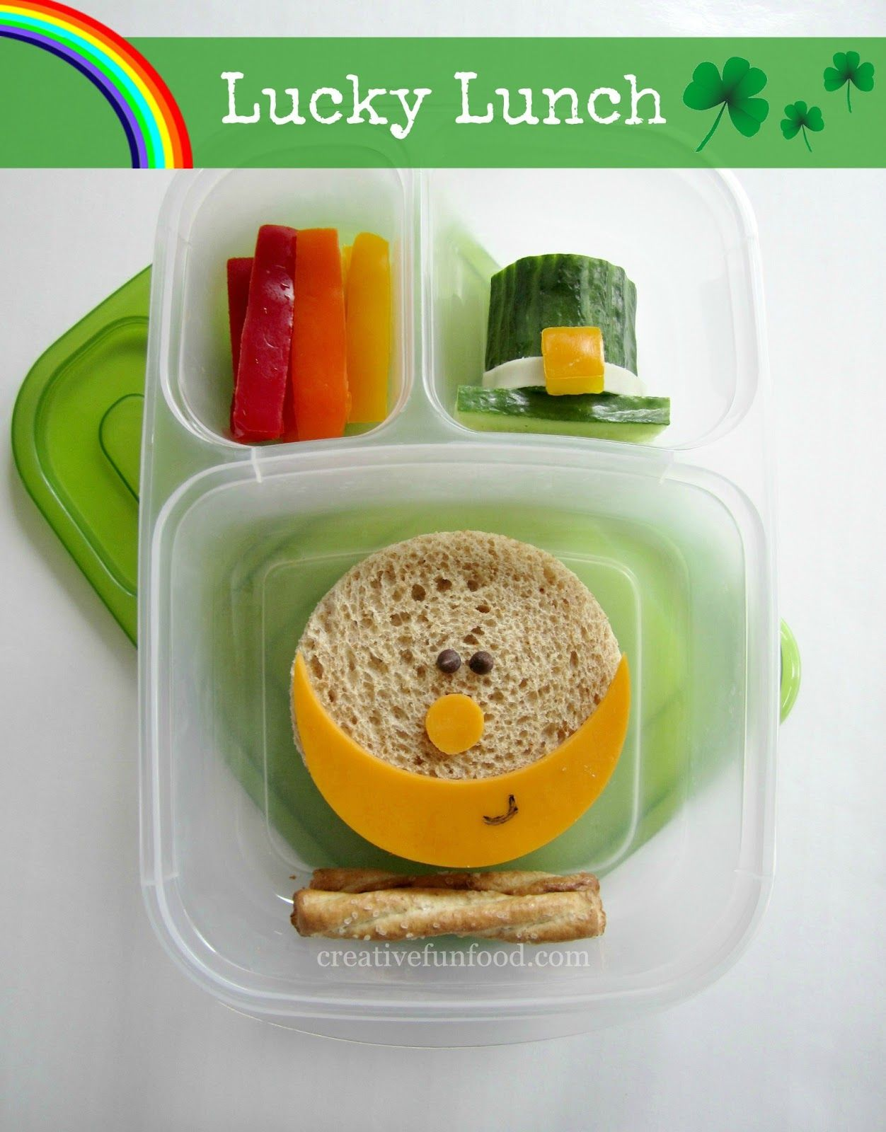 St. Patrick's Day Lucky Lunch | creativefunfood.com