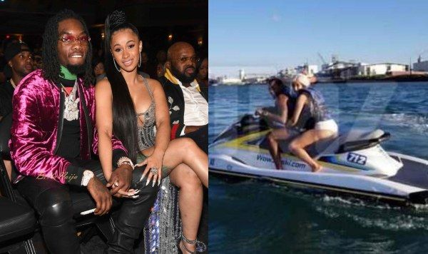 Cardi B Reveals Huge Offset Tattoo Of Husband S Name On: Cardi B Reveals Behind-the-scene Of Jet-ski Picture With