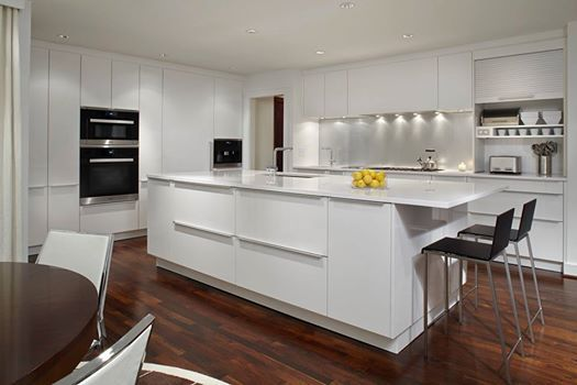 A stunning polar white kitchen by our designer john coulter poggenpohl atlanta in the us