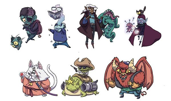 Game Character Design Apps : Cardgame app project on behance rpg characters design pinterest