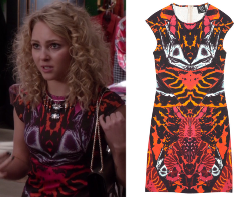 Carrie Wore This Pink And Orange Mirror Print Dress In