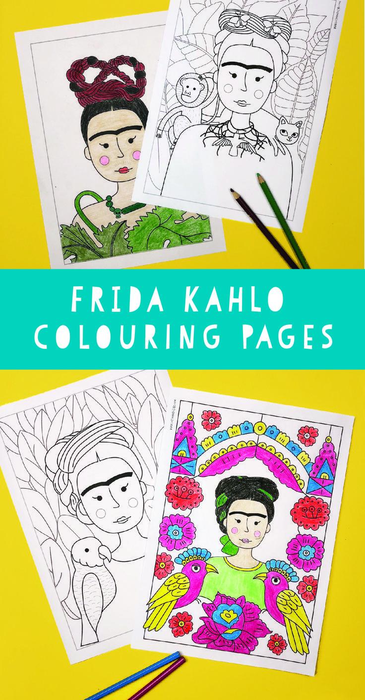 Frida Kahlo Malvorlagen / Malvorlagen. Wiederaufbau ihrer ...
