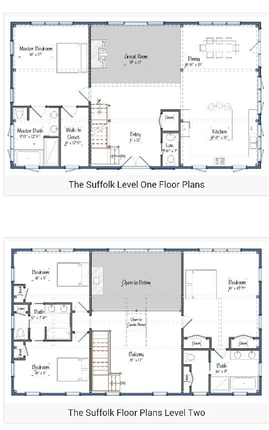 30 barndominium floor plans for different purpose pole barns rh pinterest com