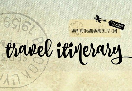 Travel Itinerary Template   Pinteres