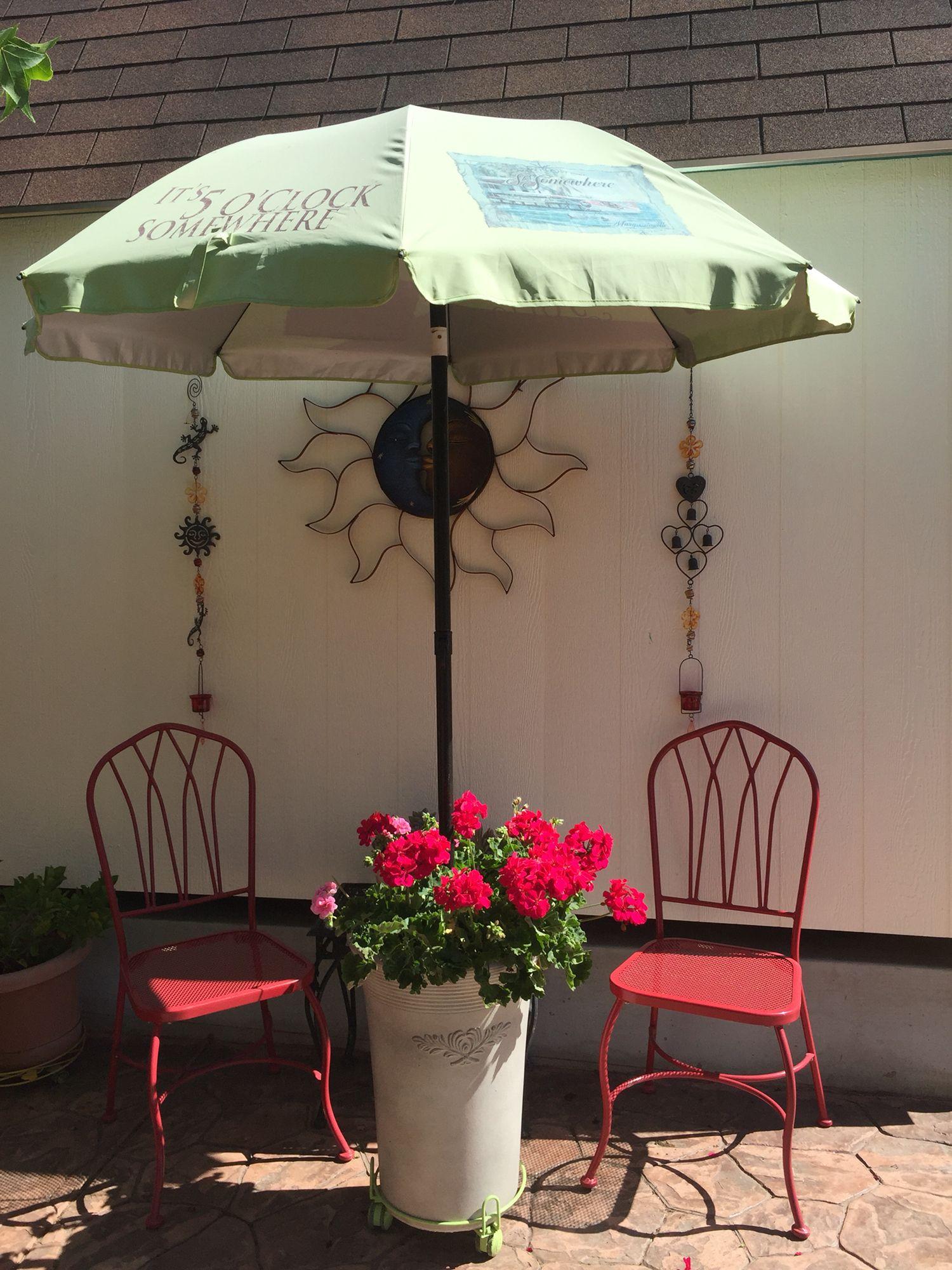 a rolling umbrella stand flower planter diy outdoor