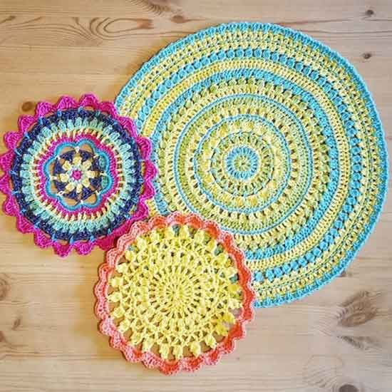 free crochet mandala pattern | Accessories | Pinterest | Teppiche ...