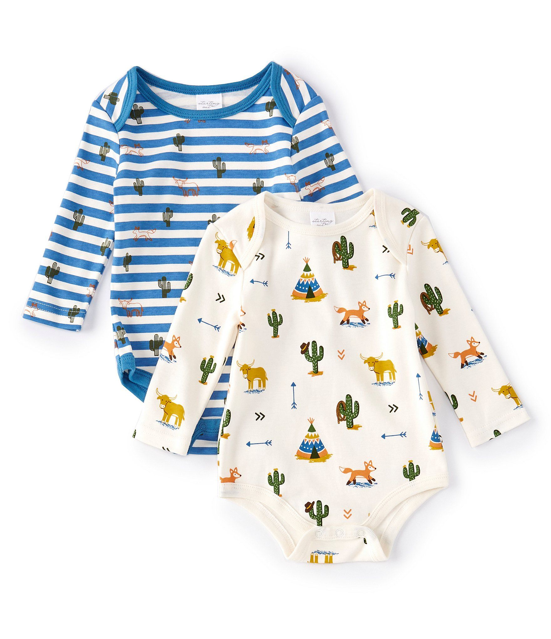 Photo of Starting Out Baby Boys 3-9 Months Western 2-Pack Bodysuit | Dillard's