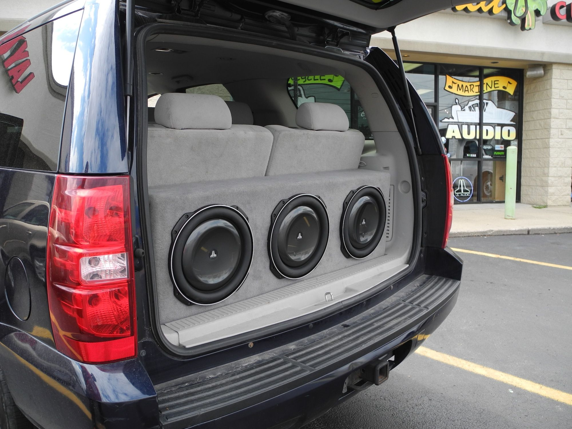 Need A Custom Subwoofer Solution That Sounds Amazing And Won T Take Up Too Much Space Yep We Can Do Car Audio Subwoofers Custom Car Audio Truck Audio System