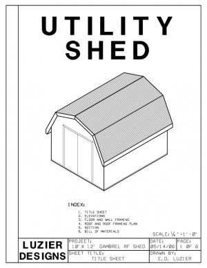 10 X 12 Gambrel Roof Barn Shed Building Plans Blueprints Shed Floor Plans Diy Storage Shed Plans Wood Shed Plans