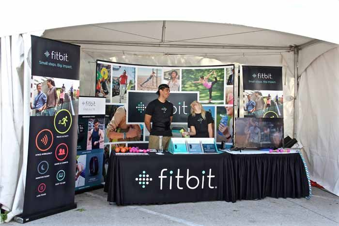 Small Exhibition Stand Goals : Fitbit trade show booth attracts a fit crowd awesome