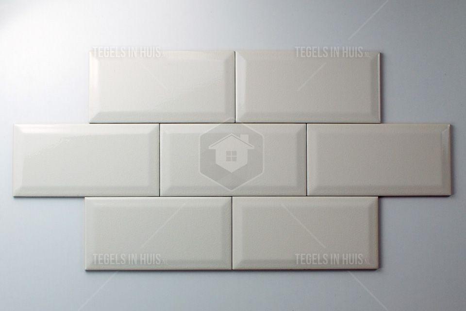 Wandtegel metro 10x20 craquele ivoor wit keuken oud en nieuw