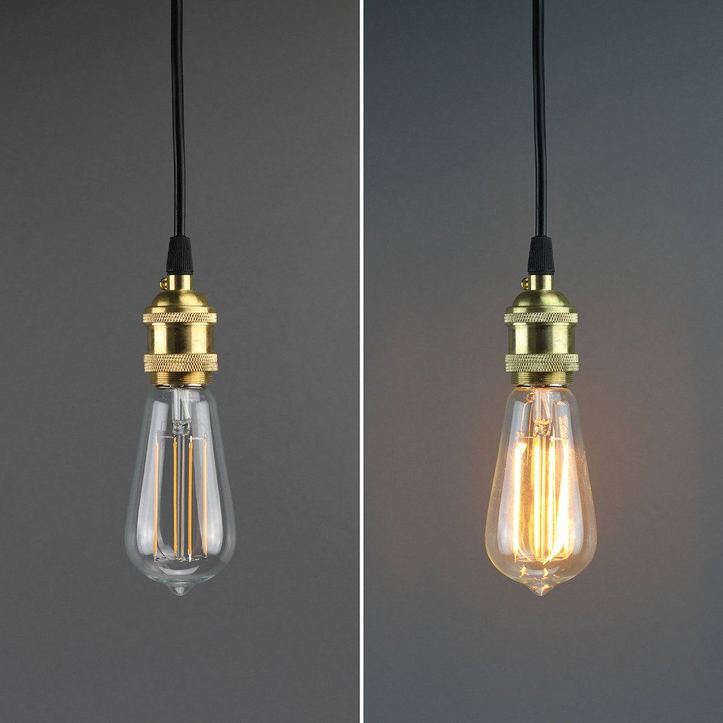 LIGHTSTORY® Glühfaden LED Edison Lampe ersetzt 40Watt E27 ST58, 3,5W ...