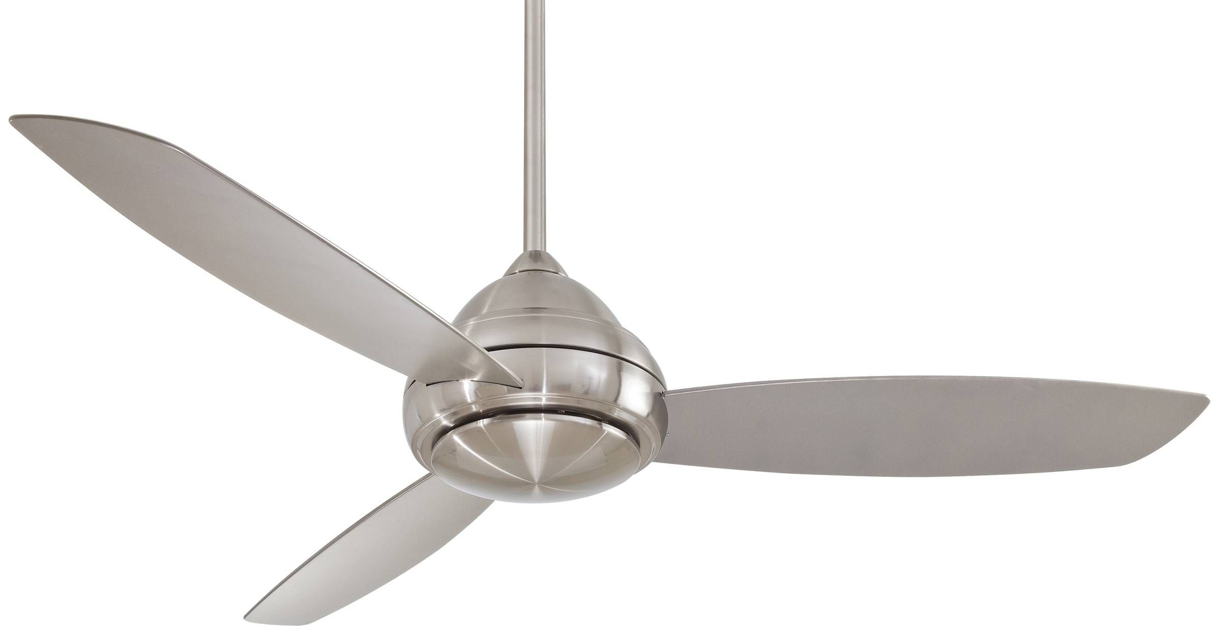 Stainless steel ceiling fan without lights