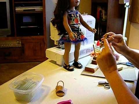 How to Make Doll Shoes - V Sandals Pt. 6